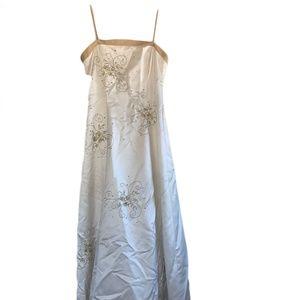 Simple Satin Wedding Gown - Blondie Nites